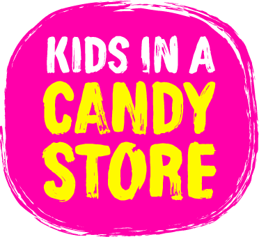 Kids in a candy store